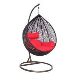 Modak black outdoor swing chair woodys furniture