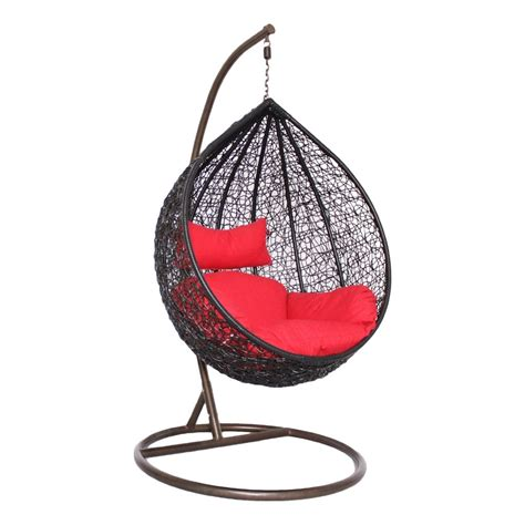 modak black outdoor swing chair woodys furniture - Swing Chair