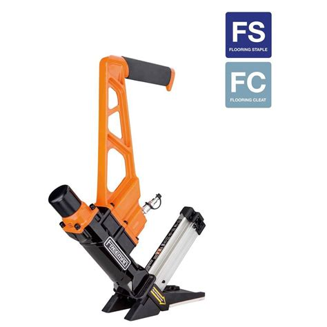 freeman 3 in 1 pneumatic flooring nailer and stapler with quick release pdx50q the home depot