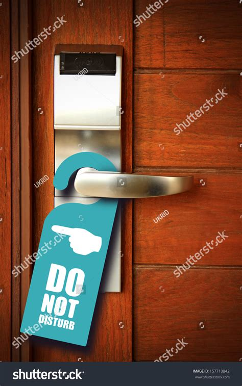 do not disturb sign hang on stock photo 157710842