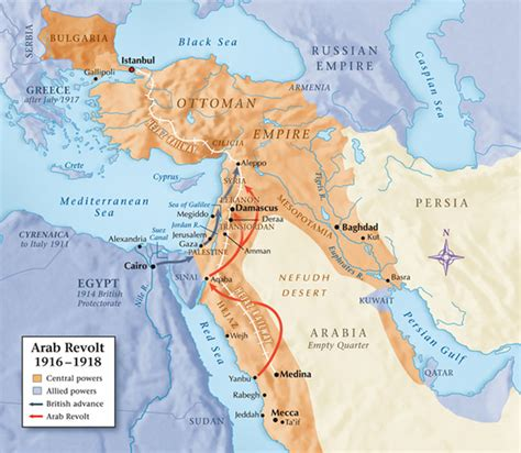 ottoman arabia creating chaos lawrence of arabia and the 1916 arab
