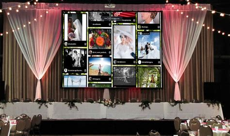 best way to display photos on wall best way to display photos in weddings using social walls
