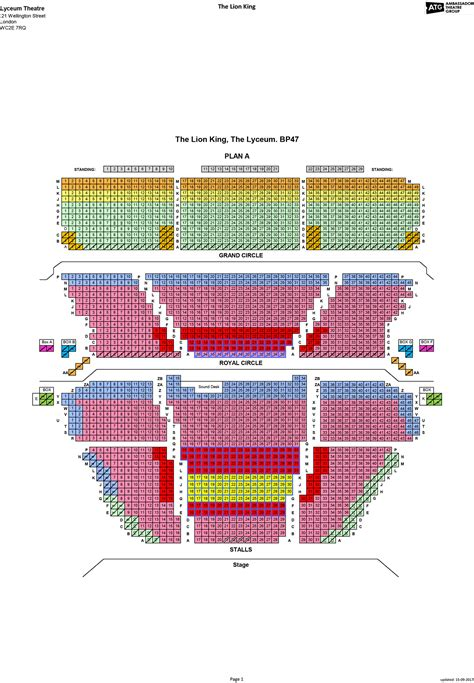 lyceum theatre floor plan tickets to lyceum theatre ticmate com