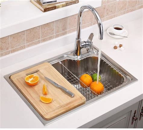 Single Bowl Kitchen Sink Sizes 4 Sizes Single Bowl Kitchen Sinks Stainless Steel Kitchen Sink With Pull Out Sink Mixer Tap Pia