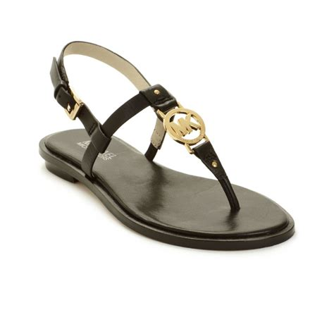 mk shoes outlet michael kors sandal in black lyst