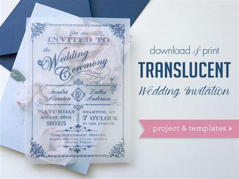 wedding stationery printers glasgow diy vintage translucent wedding invitation