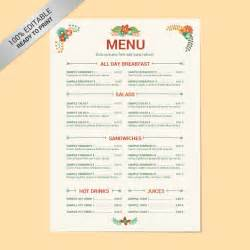 Free Cafe Menu Templates by Blank Restaurant Menu Template Best Agenda Templates