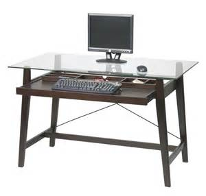 pretty home depot computer desk on simple glass top office