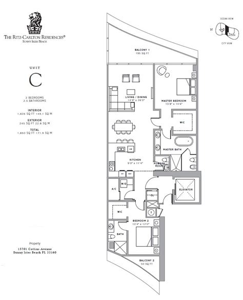 ritz carlton floor plans ritz carlton sunny isles galante real estate