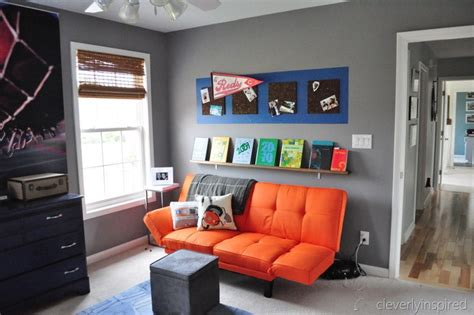 Bedrooms Decorating Ideas by Boys Gray And Orange Bedroom Reveal Decorating Boys Room