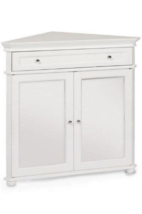 White Corner Kitchen Cabinet by Hton Bay 32quotw Corner Cabinet With Two Wood Doors