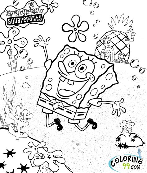 spongebob coloring book spongebob squarepants coloring pages minister coloring