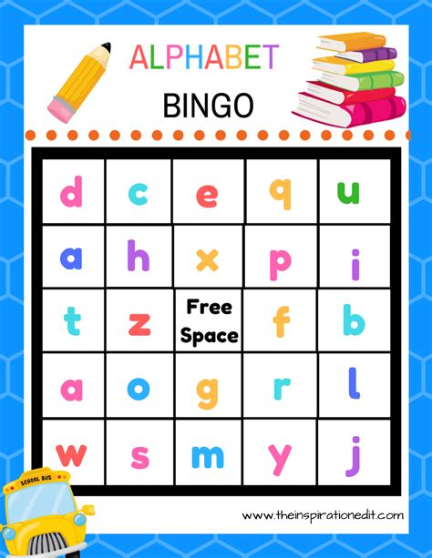 printable alphabet bingo free alphabet bingo printable for kids 183 the inspiration edit