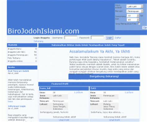 membuat website kontak jodoh birojodohislami com biro jodoh muslim terbaik dan