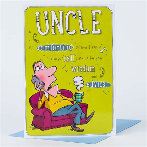 Birthday Cards For Uncles Birthday Card Uncles Wisdom Only 99p