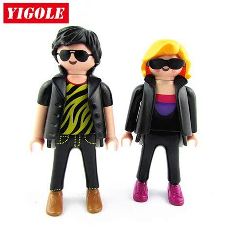 Set Origina Kid 2pcs set original playmobil figure city fashion figures best toys