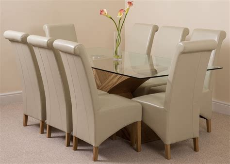 valencia large oak 200cm modern glass dining table 8