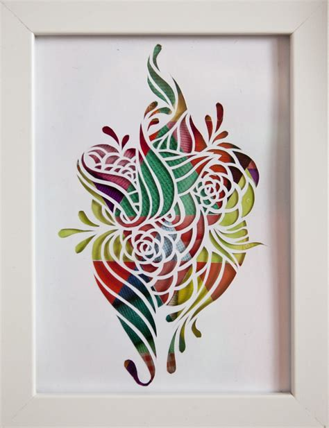 How To Make Flowers By Paper Cutting - flower papercut 2 ezra reimer 2012 my