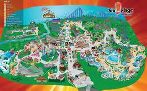 map of six flags six flags new maplets