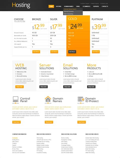 15 Hosting Psd Themes Templates Free Premium Templates Email Template Grid Psd