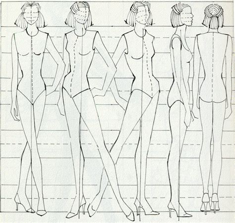 Drawing Figures by Personal Project Research For Fashion Figures