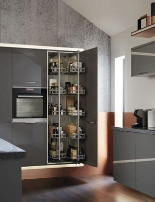 Greenwich Gloss Slate Grey Kitchen   Universal Kitchens