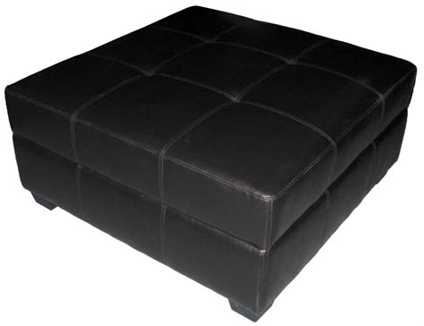 5 Best Black Leather Ottoman Elegant Enough To Make Your Large Square Storage Ottoman