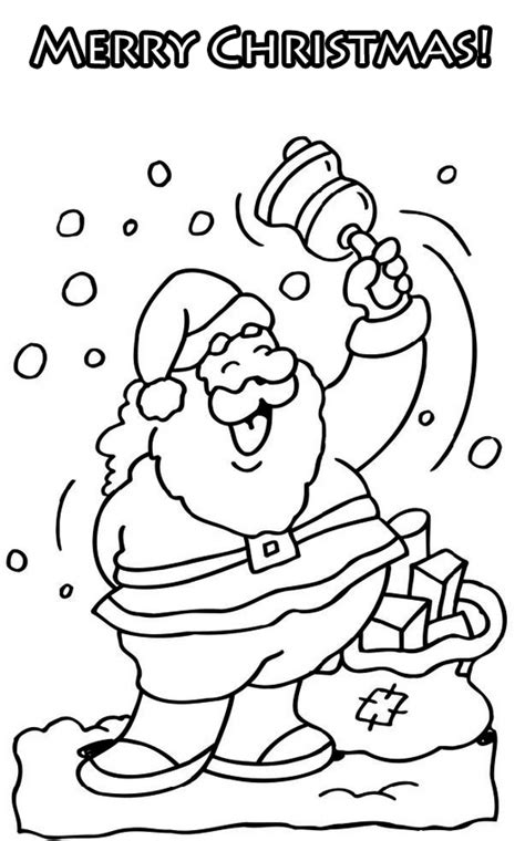 cute coloring pictures merry christmas coloring santa