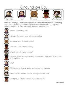 groundhog day script groundhog day informative reader s theater readers