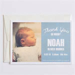 noah baby thank you card by e y i