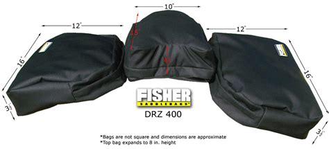 Suzuki Drz 400 Accessories Fisher Saddlebags Suzuki Drz 400 Seat Rack Luggage