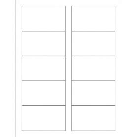 Place Card Template Word 10 Per Sheet by Templates Business Card With Center Margin Wide 10