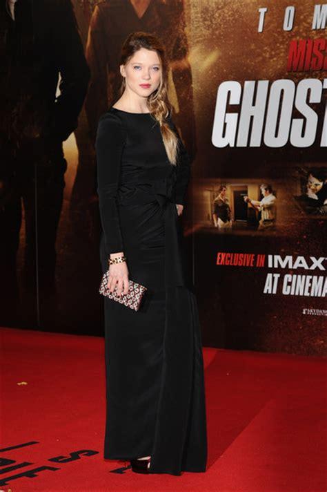 lea seydoux ghost dress lea seydoux s black dress