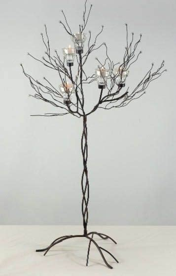 metal tree centerpieces