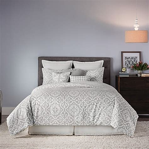 real simple 174 irving reversible comforter set bed bath