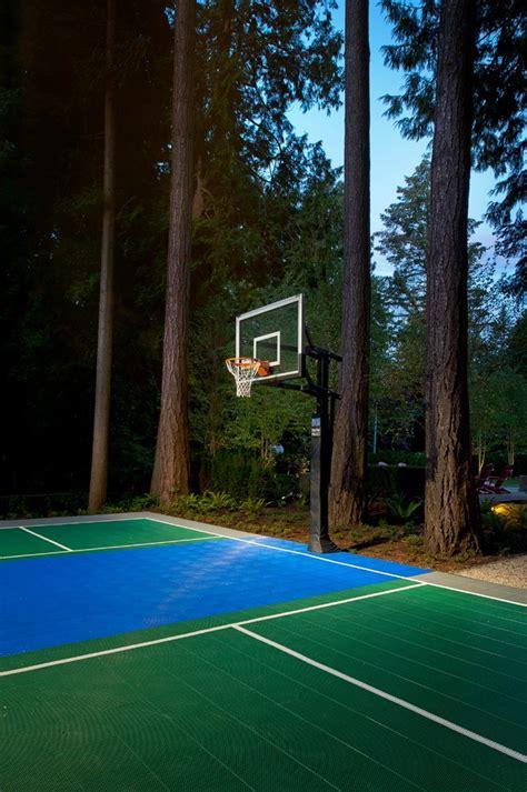 Outdoor Basketball Court Lights Pleasing Outdoor Basketball Court With Hoop Landscape Lights Ironworkers