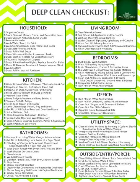 how to deep clean best 10 house cleaning checklist ideas on pinterest