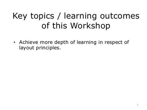 workshop layout principles workshop 4 display principles