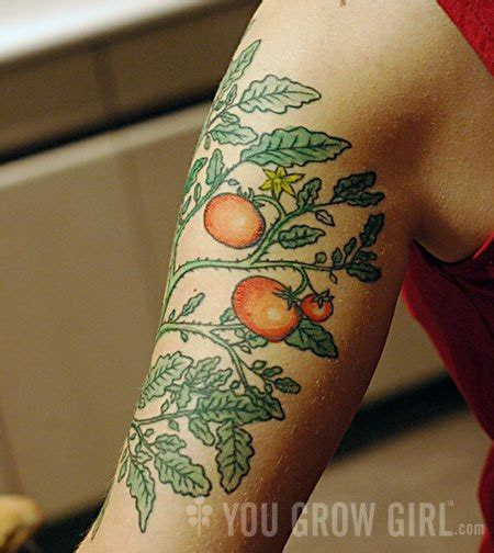 tomato tattoo 16 plant tattoos on half sleeve