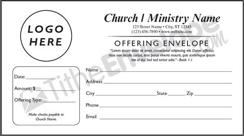 Offering Envelope Printing Customized Offering Envelope Church Envelope Template