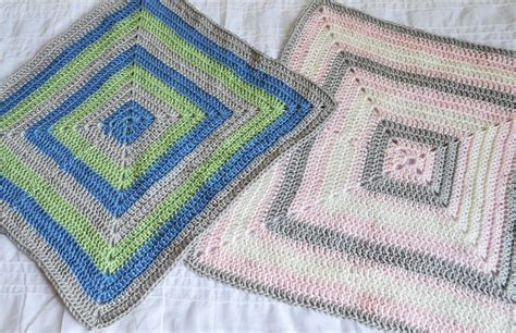 Baby Square Blanket by The Handmade Dress Filled In Square Baby Blanket