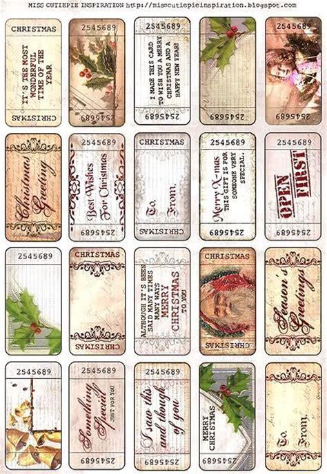vintage christmas gift tags printable free vintage christmas tag printables christmas pinterest
