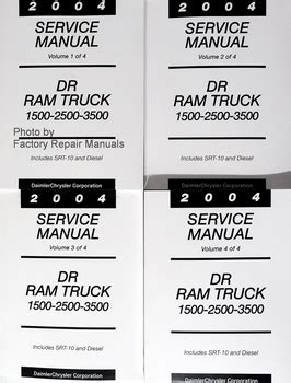 book repair manual 2004 dodge ram 3500 interior lighting dodge service manuals original shop books factory repair manuals