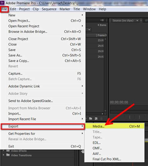 adobe premiere export video format export mp4 video for youtube vimeo adobe premiere pro