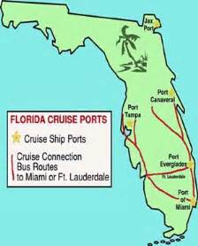 cruise ports in florida map florida cruise ship information