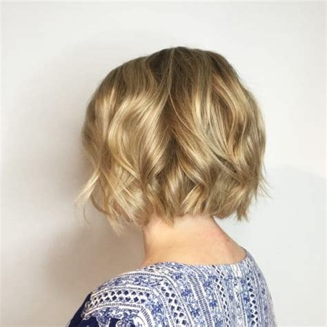 softened bob hairstyle 20 wavy hairstyles trending in 2018