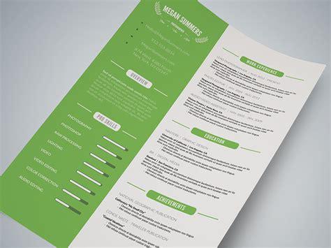 Cursive Q Resume by Clean Resume Template Photoshop Psd Cursive Q