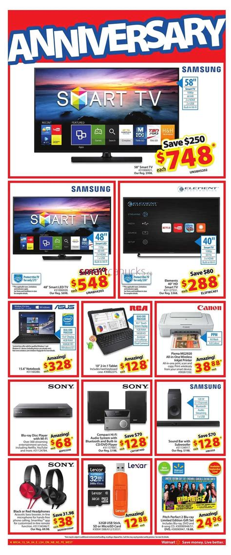walmart ontario on anniversary sale september 17 to 23