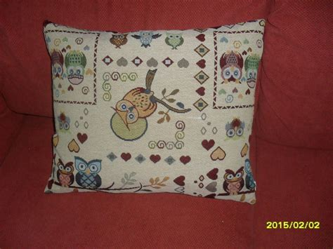 cuscini di piume cuscino piume con fantasia di gufi e cuori per la casa e