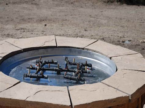 outdoor how to build a gas pit with stove pipe how